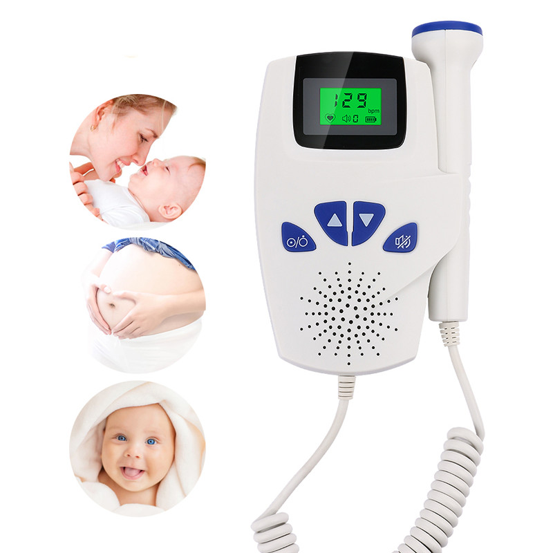 LCD Baby Fetal Doppler Portable Ultrasound Fetal Heart Monitor Heartbeat Detector Battery Powered Prenatal Monitoring Devices doppler foetal 100b fetal heart rate detection device easy to use for home fhr portable ultrasonic diagnostic baby lcd screen