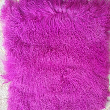 Real Tibetan Fur Plate Pelts Mongolian Lamb Fur Rug Area Real Fur Blanket Rugs and Carpets For Living Room Accessory Doll Wig(China)