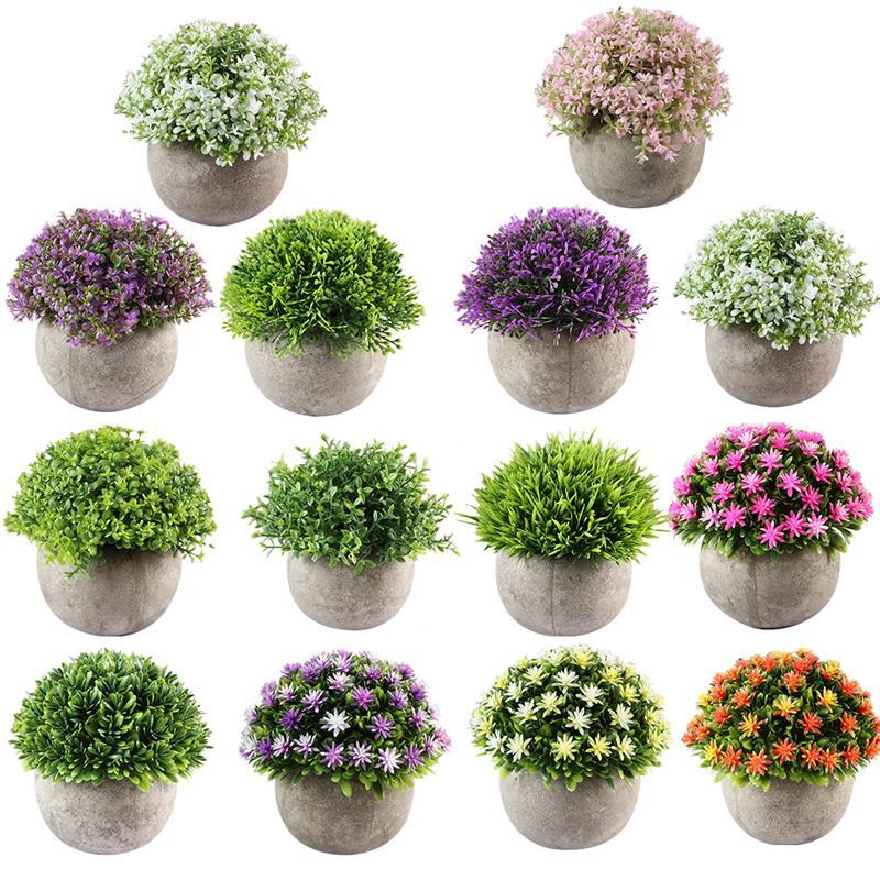 Artificial Plant Decorative Lifelike Elegant Fake Flowers Potted Plants Home Decorations