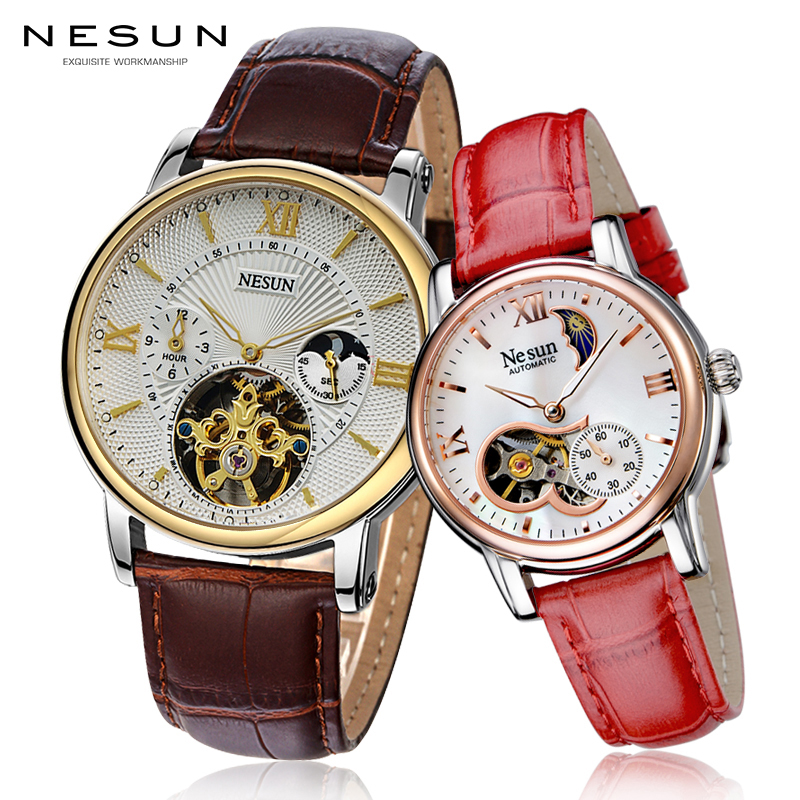 Couple Watches For Lovers Luxury Top Brand Waterproof Casual Style New Fashion Mechanical Men Women Leather Watch High Quality