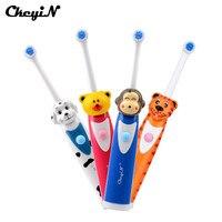 Электрическая зубная щетка RechargeableOral B безопасный милый мультяшный узор ультразвуковая вибрационная вращающаяся зубная щетка для детей Oral ...