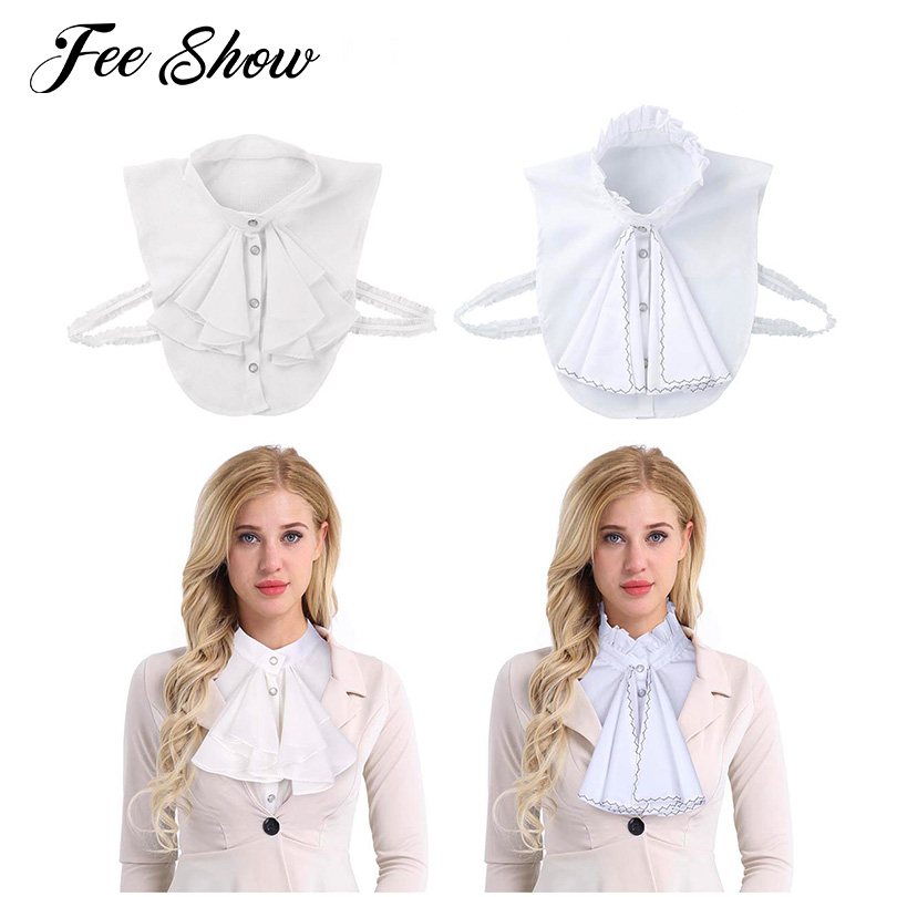 Womens Fashion Detachable Fake Collar False Decorative Shirt Collar Office Lady Women Dickey Dames Blouse Clothing Accessories