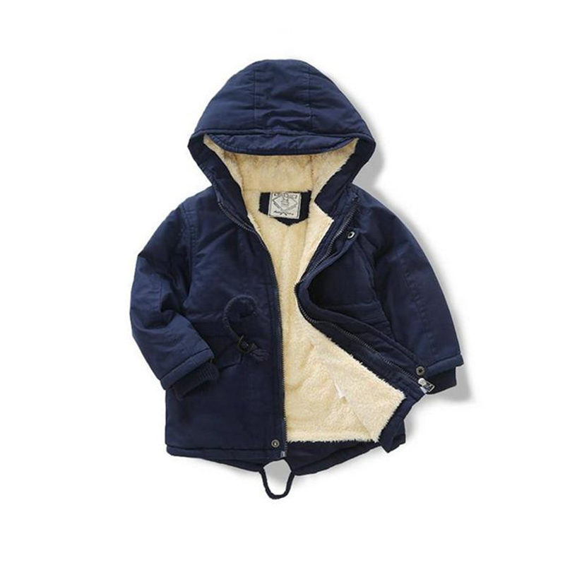 Hurave Winter warmer outwear hooded coat Children drawstring top Kids girls full Sleeve Casual button Clothing baby jacket