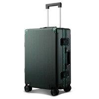 20 24100% Aluminum Luggage Hardside Rolling Trolley Luggage Travel Suitcase Carry on Luggage Checked Luggage