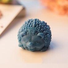 8,2x7,5x5,3 см милая форма ежа силиконовая форма для мыла ремесленные инструменты животное ручной работы изготовление мыла формы