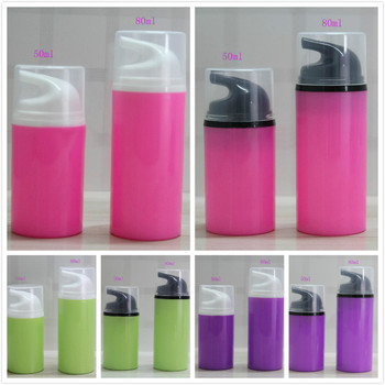 80ML 2.7/2.8 FL.oz pink/green/purple plastic airless bottle for lotion/emulsion/serum/foundation/essence skin care packing