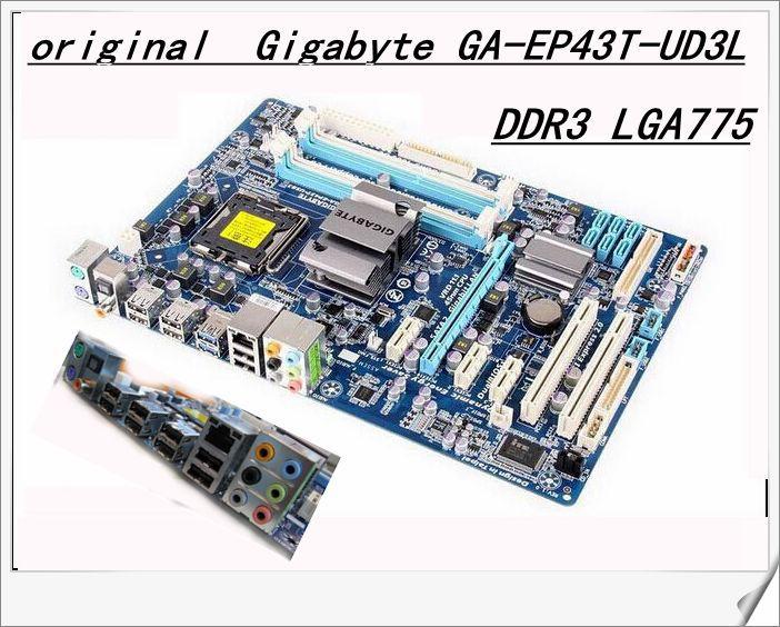 Free shipping original motherboard for Gigabyte GA-EP43T-UD3L EP43T-UD3L DDR3 LGA775 motherboard