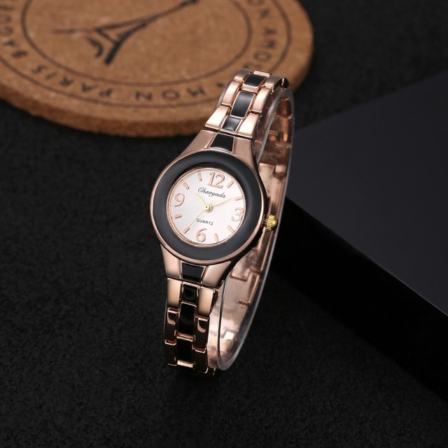 Fashion Bracelet Watch Luxury Rose Gold Women's Watches Full Steel Ladies Watch
