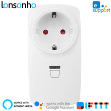 Lonsonho 16A Smart Plug Wifi Smart Socket US EU UK AU France Australia Plug Works With Alexa Google Home IFTTT eWeLink