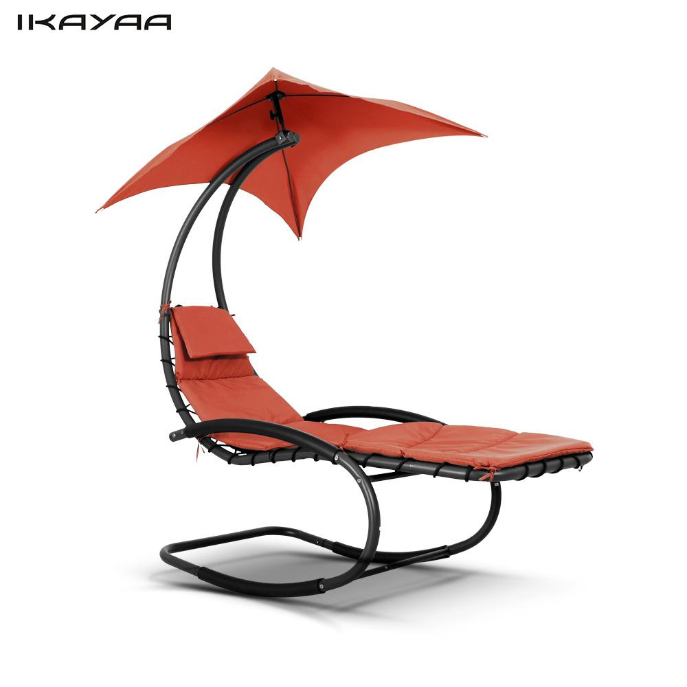 Chair With Canopy Master Gym Fitness Reviews Ikayaa Rocking Outdoor Patio Chaise Lounge Garden Porch Pool Rocker Furniture Us De Stock In Chairs From On