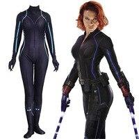 Avengers Endgame Black Widow Women Halloween Cosplay Costume Natasha Romanoff costume Black Widow Zentai Bodysuit Jumpsuit