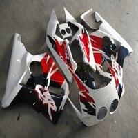 Screws+Custom made red black white motorcycle Fairing for HONDA CBR400RR 1988 1989 NC23 CBR 400 RRbody kit