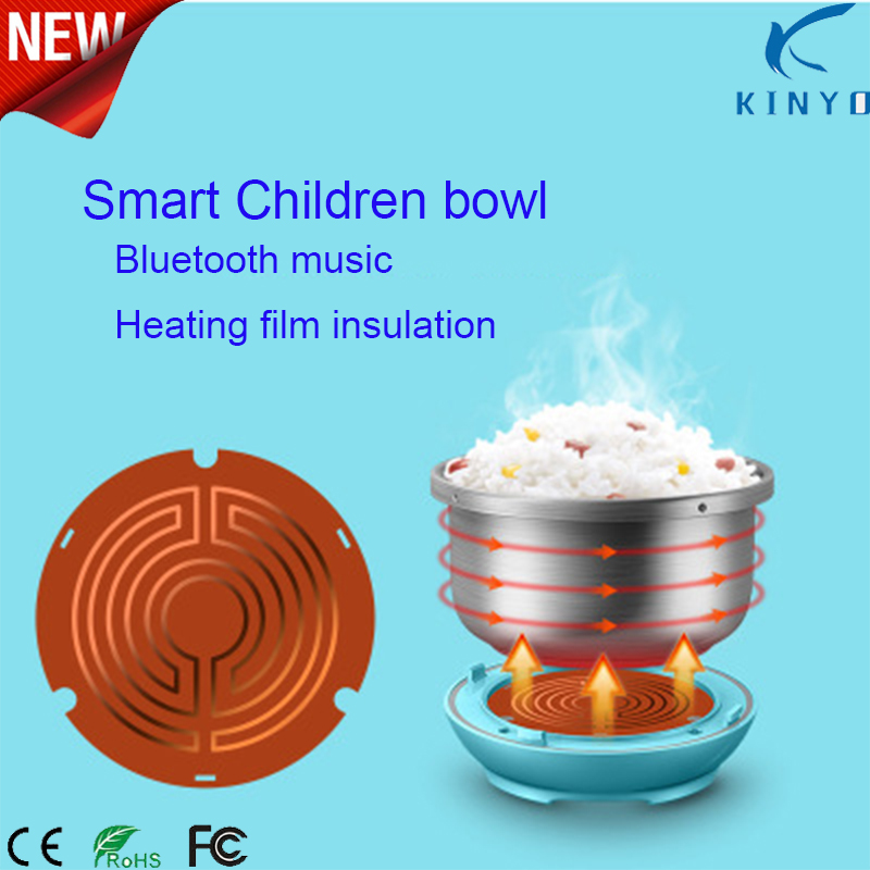 Smart Baby Bowl Food grade 304 Stainless Steel Bowl Keep Warm kids Dinnerware with bluetooth music story  Smart Baby Bowl Food grade 304 Stainless Steel Bowl Keep Warm kids Dinnerware with bluetooth music story