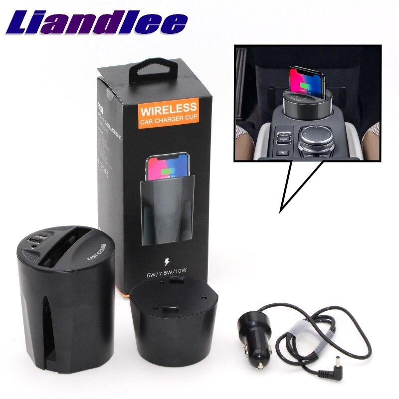 LiandLee Qi автомобильное беспроводное зарядное устройство в виде чашки держатель стиль быстрое зарядное устройство для сиденья Altea Alhambra Ateca ...
