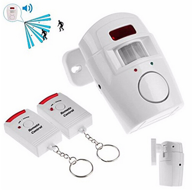 Home Door Alarm System IR Infrared Motion Sensor Alarm Security Detector Wireless 105dB Alarm Monitor+2 remote controllers xinsilu recent home system 2 remote control wireless ir infrared motion sensor alarm security detector hot selling