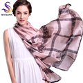 Summer Beach Shawl Autumn Winter Women Lace Vintage Silk Scarf Shawl Fashion Large Mulberry Scarves Wraps Female chale de soie