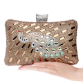 Shell design silver color acrylic evening bags finger ring diamonds small purse day clutches handbags for evening dress purse