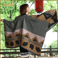 2016 New Women Poncho Prorsum Cashmere Wool Scarf Embroidery personalized Poncho Cape Block Check Blanket Poncho