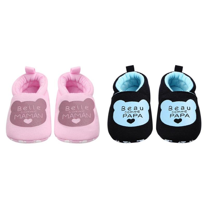Shoes Moccasin First-Walkers Anti-Slip Baby-Girls Letter Sweet Cotton Soft Bear-Spring