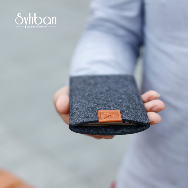 Handmade Wool Felt Wallet Style For <font><b>iphone</b></font> 7 clear case Custom Sizes For <font><b>iPhone</b></font> 6 6s Plus mobile phone Case