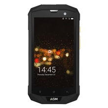 Orijinal AGM A8 4G Smartphone Android 7.0 5.0 inç MSM8916 Quad çekirdek 1.2 GHz 4 GB + 64 GB 13.0MP Arka Kamera IP68 Su Geçirmez Telefon