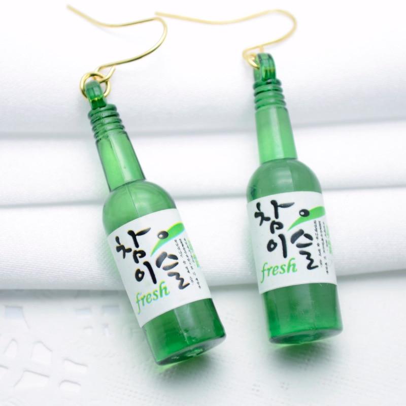 2019 Sommerstil Ny personlig ølflaske Formet Drop Earring Akryl - Mode smykker - Foto 6