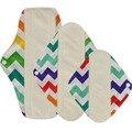 Ohababyka Absorventes Reutilizáveis Almofadas de Pano de Carvão De Bambu Lavável Menstruais Pads para Mama Suave Mulheres de Higiene Do Produto 3 Tamanho