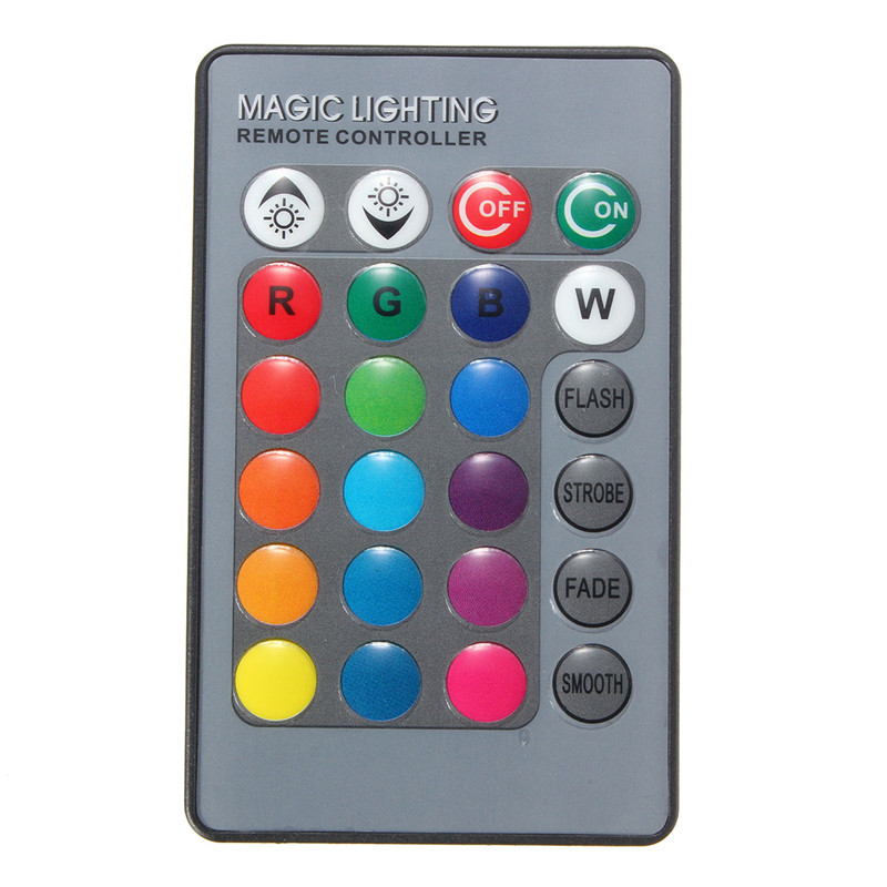 24 Keys RGB IR Wireless Remote Controller For Globe Bulbs RGB Light Lamp LED Strip Lights Without Battery Mini Controller