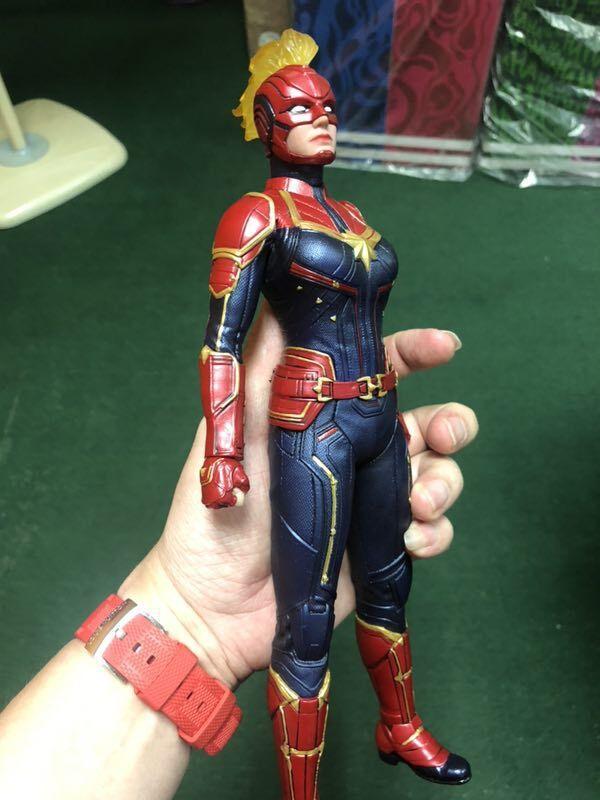 Jouets fous 1/6 Marvel film capitaine Marvel Carol Danvers 30 cm PVC figurine modèle jouet avec boîte d'origine