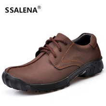 Mens Shoes Casual 2018 New Design Men Oxfords Genuine Leather Shoes Flats Good Quality Working Shoes Size 38-47 AA30054