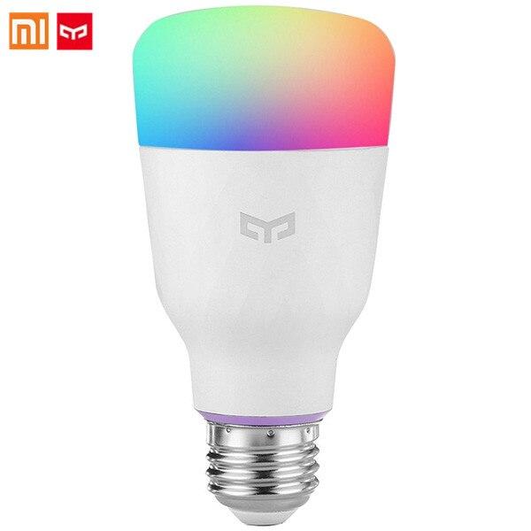 Xiaomi Yeelight YLDP06YL RGB LED Smart Bulb (Color) E27 10W 800 Lumens Voice Control Mi Smart Light Bulbs Phone Remote Control xiaomi yeelight led light bulb ipl