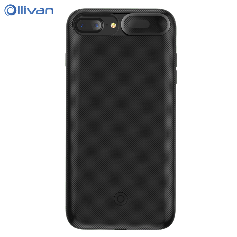 OLLIVAN Back Battery Charger Case for iPhone 6 6s 7 8 Plus 3000/7500 mAh Power Bank Charing Case Backup Charger Cover for 6 Plus