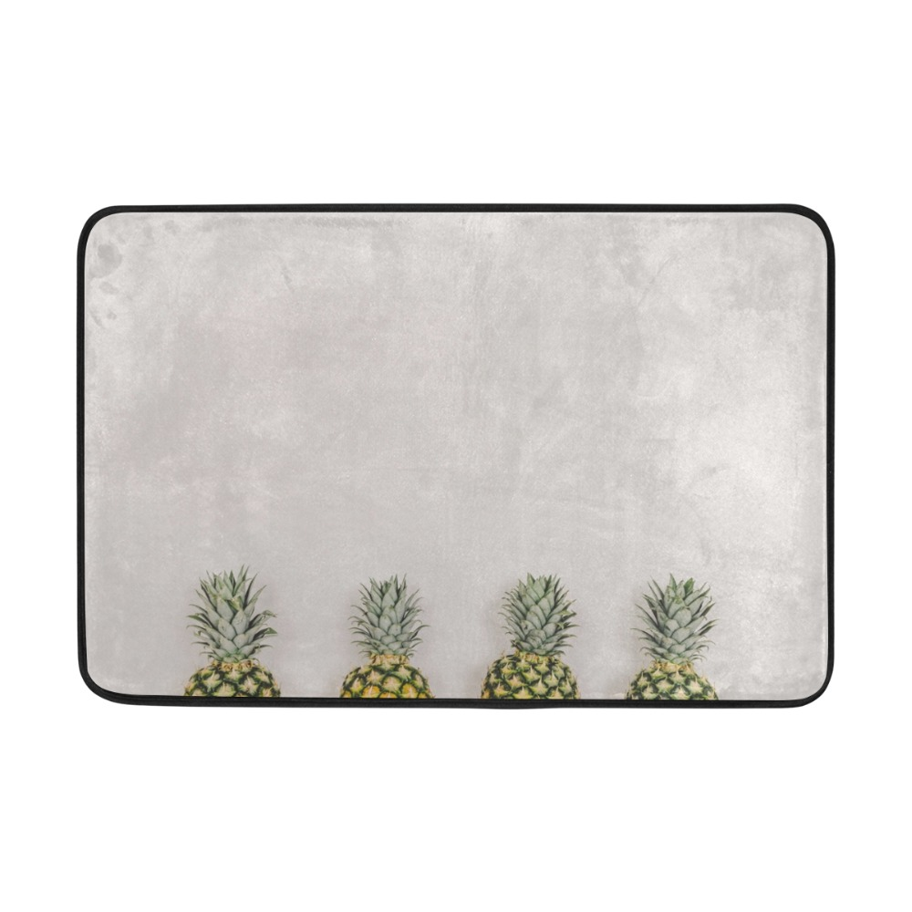 Four Pineapples Printed Bathroom Non-Slip Style Pedestal Rug Lid Toilet Cover Bath Mat Gifts Sets Bath Pad Home Decor Bath Mats