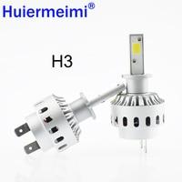 הנורה פנס רכב סופר מואר רכב LED פנס H1 H3 H4 H7 H8/H9/H11 9005 9006 DC12V 360 תואר רכב תאורת ערפל