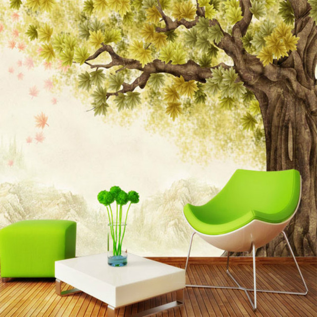 Custom Large Wall Mural 3D Wallpaper TV Backdrop 3D Wallpaper Modern  Minimalist Retro Korean Garden Hand