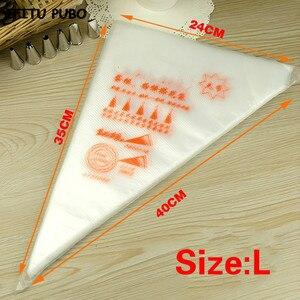 Image 2 - 50 adet küçük/büyük boy tek kullanımlık sıkma torbası buzlanma fondan kek krem çanta dekorasyon pasta İpucu aracı GYH