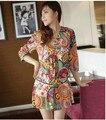 New 2016 summer women casual dress print V-neck  bohemian dresses women clothing vestidos vestido de festa