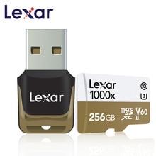Original lexar micro cartão sd 256 gb tf cartão v60 cartao de memoria u3 profissional carro flash cartão de memória c10 para esporte camcorder