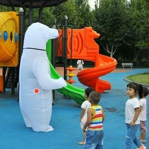 Image 2 - Inflatable Polar Bear Costume Mascot Costumes Animal Fantasias Adult Christmas  Halloween ThanksgiBirthday Party Cosplay Costume