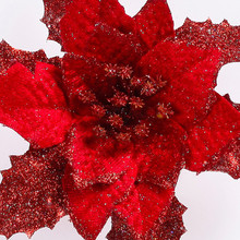 Christmas Tree Ornament Fake Flowers Festival Supplie For Halloween Christmas New Year decoracao de natal