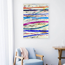 Abstract Color Lline Stripe Inkjet A2 A3 A4 Canvas Painting Art Print Poster Picture Wall Living Room Office Home Decoration