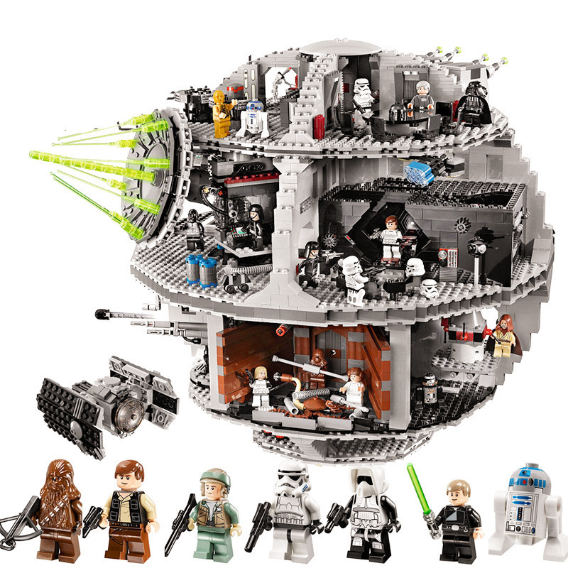 3804pcs Diy Compatible With playmobil Death Star Model Educational Building Bricks Wars Blocks Self-locking Toys for Children enlighten building blocks military submarine model building blocks 382 pcs diy bricks educational playmobil toys for children