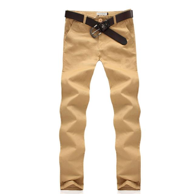 2016 nova casual chino khaki calças dos homens vestuário de moda novo design de alta qualidade calças de algodão casuais para homens