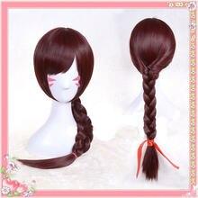 Парик для косплевечерние из темных коричневых волос 70 см takerlama