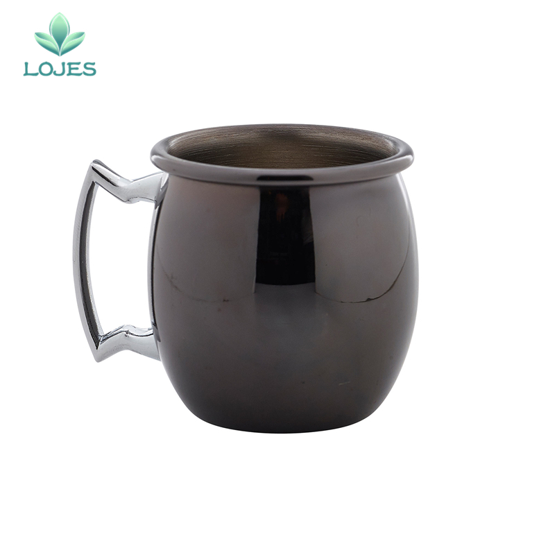550ml Moscow Mule Mugs Stainless Steel Perfect Smooth Gunmetal Black <font><b>Cups</b></font> and Mugs Cocktail <font><b>Beer</b></font> Coffee Mug Drinkware image
