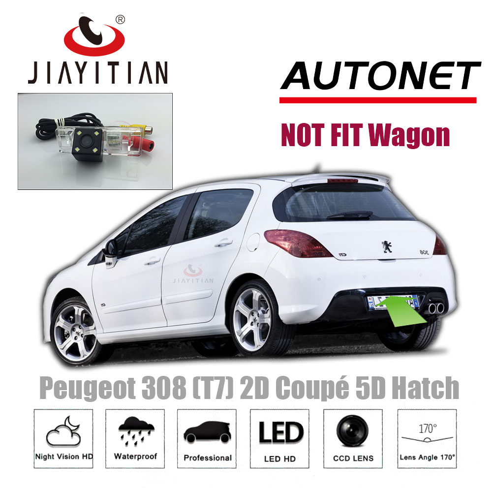 JIAYITIAN Rear Camera For Peugeot 308 T7 2D Coupe Cabriolet/3D 5D Hatchback/Backup Camera/CCD/Night Vision/License Plate