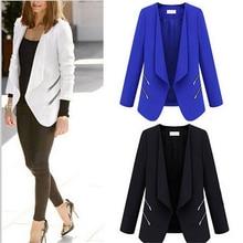 Office Lady Slim Blazer Jackets Coats New Fashion Style Summer  Thin Blue Cardigan Outwear Business Women Leisure Blaser Femme stern резинка для крепления грузов на багажник stern