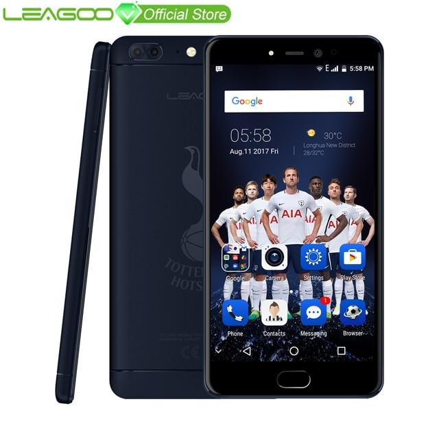 """LEAGOO T5 4G смартфон 5,5 """"FHD 4 GB Оперативная память 64 Гб Встроенная память Android 7,0 MT6750T Восьмиядерный 13MP двойной назад камеры отпечатков пальцев THFC мобильного телефона"""