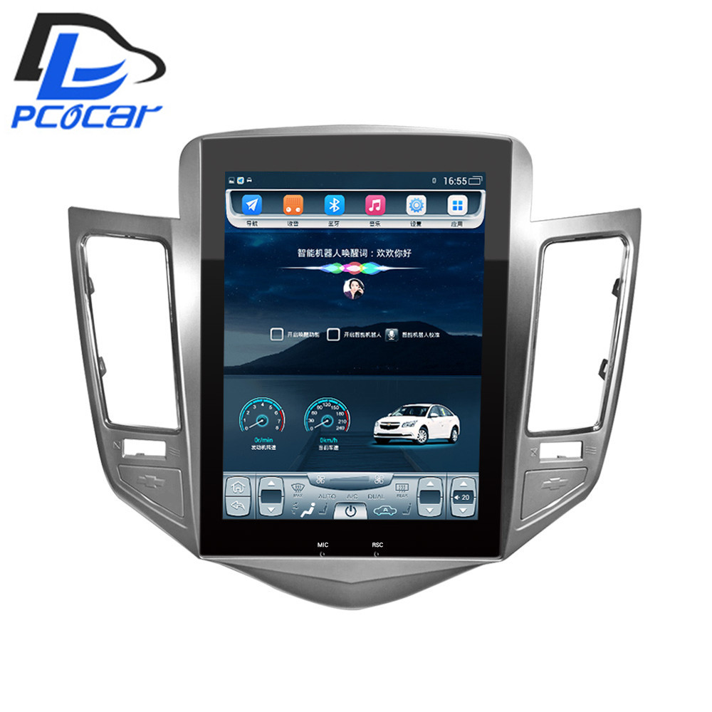 32G ROM Vertical screen android car gps multimedia video radio player in dash for Chevrolet CRUZE