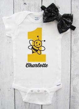 Personalizado abejorro Primer Cumpleaños body una pieza tutú vestido llevar a casa traje conjunto bebé regalos para fiesta de bebé